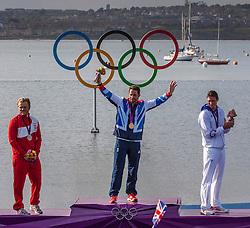 Gold Medal Winner <br /> Ainslie Ben, (GBR, Finn)<br /> SILVER Hoegh-Christensen Jonas, (DEN, Finn)<br /> BRONZE  Lobert Jonathan, (FRA, Finn)<br /> <br /> 2012 Olympic Games <br /> London / Weymouth