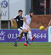 Dundee's Thomas Konrad challenges Inverness&rsquo; Dani Lopez - Dundee v Inverness Caledonian Thistle in the Ladbrokes Premiership at Dens Park<br /> <br />  - &copy; David Young - www.davidyoungphoto.co.uk - email: davidyoungphoto@gmail.com