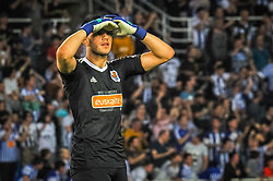 April 19, 2018 - San Sebastian, Spain - Geronimo Rulli of Real Sociedad reacts during the Spanish league football match between Real Sociedad and Atletico Madrid at the Anoeta Stadium on 19 April 2018 in San Sebastian, Spain  (Credit Image: © Jose Ignacio Unanue/NurPhoto via ZUMA Press)