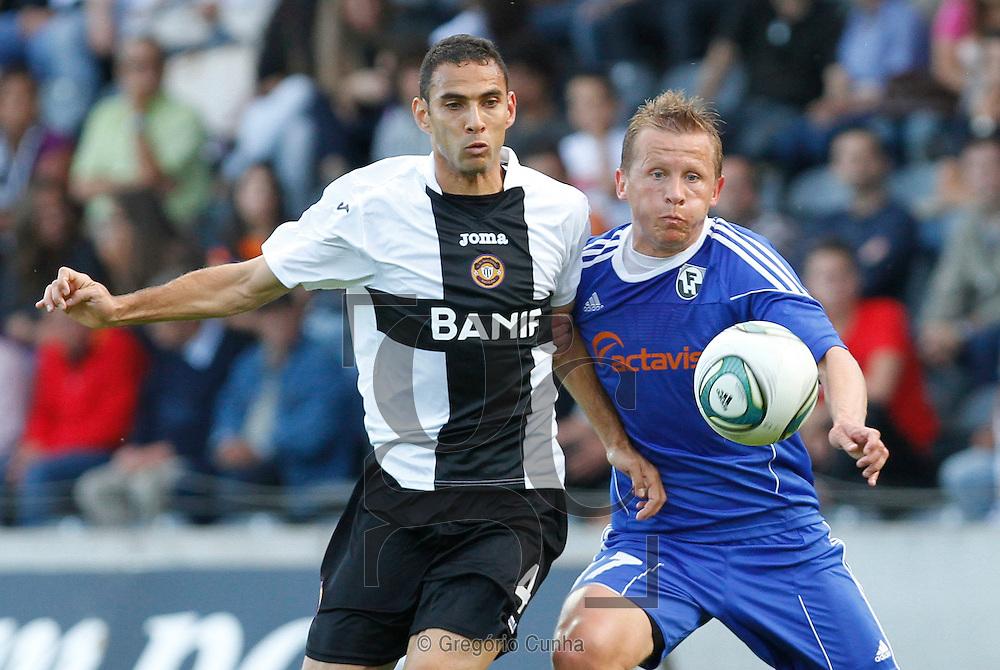 Estadio da Madeira, Liga Europa.Nacional vs FH Hafnarfjordur.Danielson e Atli Bjornsson.Foto Gregorio Cunha
