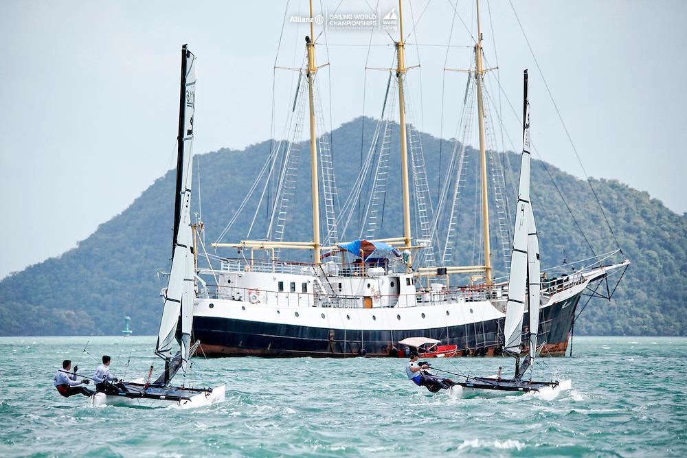 Sirena SL16 Fleet.<br />Day3, 2015 Youth Sailing World Championships,<br />Langkawi, Malaysia