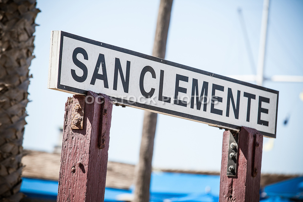 Wood Signage of San Clemente Downtown at the Pier