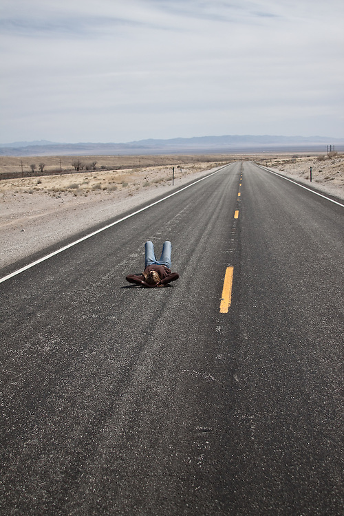 Kristin Snyder.  Highway 50.  Eastern Nevada.