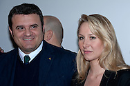 """The Europe of the Mille Patrie""  conference of the movement ""Us with Salvini"" with Marion Le Pen of the Front National. Rome Italy. March 15th  2016<br /> Pictured: Gian Marco Centinaio, leader in the Senate of the Northern League with Marion Le Pen of the Front National."