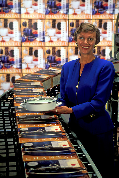 Woman Displays Chantal Cookware