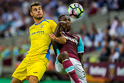 Antonio Mance of NK Domzale and Michail Antonio of West Ham during 2nd Leg football match between West Ham United FC and NK Domzale in 3rd Qualifying Round of UEFA Europa league 2016/17 Qualifications, on August 4, 2016 in London, England.  Photo by Ziga Zupan / Sportida