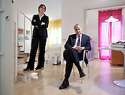 Milano, il candidato a sindaco di MilaNO Giuliano Pisapia con la moglie Cinzia Sasso.