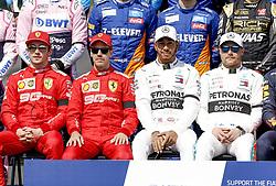 March 17, 2019 - Melbourne, Australia - Motorsports: FIA Formula One World Championship 2019, Grand Prix of Australia, ..#16 Charles Leclerc (MCO, Scuderia Ferrari Mission Winnow), #5 Sebastian Vettel (GER, Scuderia Ferrari Mission Winnow), #44 Lewis Hamilton (GBR, Mercedes AMG Petronas Motorsport), #77 Valtteri Bottas (FIN, Mercedes AMG Petronas Motorsport) (Credit Image: © Hoch Zwei via ZUMA Wire)