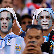 EAST RUTHERFORD, NEW JERSEY - JUNE 26:  Argentinian fans in the crowd during the Argentina Vs Chile Final match of the Copa America Centenario USA 2016 Tournament at MetLife Stadium on June 26, 2016 in East Rutherford, New Jersey. (Photo by Tim Clayton/Corbis via Getty Images)