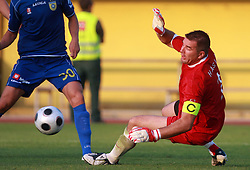 Goalkeeper of Koper Ermin Hasic at 7th Round of PrvaLiga Telekom Slovenije between FC Koper vs NK Domzale, on August, 2008, in SRC Bonifika, in Koper, Slovenia. (Photo by Vid Ponikvar / Sportal Images)