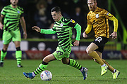 Forest Green Rovers Jack Aitchison(29), on loan from Celtic on the ball during the EFL Sky Bet League 2 match between Forest Green Rovers and Crewe Alexandra at the New Lawn, Forest Green, United Kingdom on 26 October 2019.