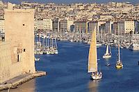 France - Marseille -Bouche du Rhone - Vieux port