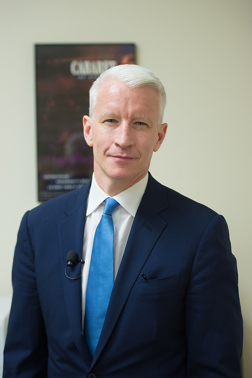 4/11/16 – Medford/Somerville, MA – Anchorman for CNN Anderson Cooper poses for a portrait before delivering the 11th Annual Edward R. Murrow Forum on Issues in Journalism in Cohen Auditorium on April. 11, 2016. (Sofie Hecht / The Tufts Daily)
