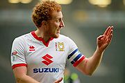 MK Dons Dean Lewington(3) calls out the shots during the EFL Sky Bet League 1 match between Milton Keynes Dons and Bristol Rovers at stadium:mk, Milton Keynes, England on 3 March 2018. Picture by Nigel Cole.