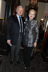 MR & MRS ALEXANDER WATENPHUL at an evening of Cabaret by Nicky Haslam held in the Beaufort Bar, The Ritz, London on 11th December 2011.