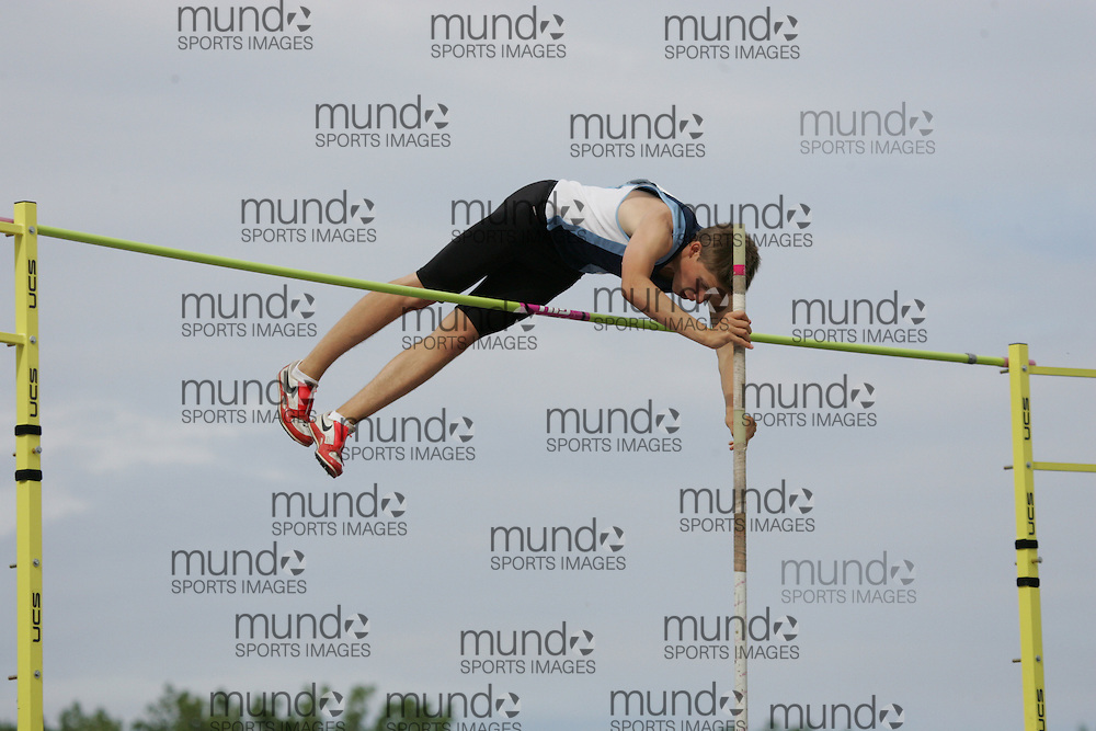 (London, Ontario}---05 June 2010) \\  competes in the pole vault at the 2010 OFSAA Ontario High School Track and Field Championships in London, Ontario,  June 05, 2010. Photograph copyright Laura Barclay / Mundo Sport Images, 2010.