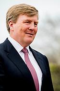 MILSBEEK - King Willem-Alexander at the opening of the new Indoor Fresh Compost Factory of CNC Raw Materials in Milsbeek. ROBIN UTRECHT