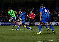 Football - 2018 / 2019 FA Cup - Third Round: Gillingham vs. Cardiff City<br /> <br /> Nathaniel Mendez-Laing (Cardiff City) with an effort at the Gillingham goal at Priestfield Stadium.<br /> <br /> COLORSPORT/DANIEL BEARHAM