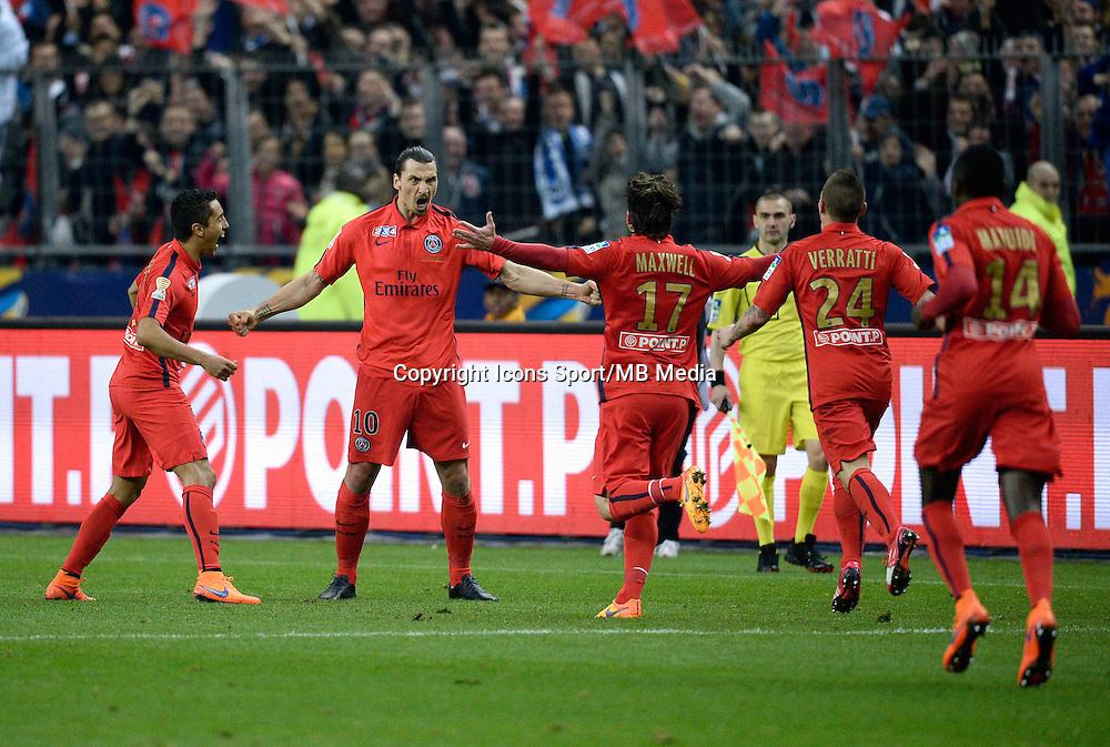 ZLATAN IBRAHIMOVIC     - 11.04.2015 -  Bastia / PSG - Finale de la Coupe de la Ligue 2015<br />Photo : Visual / Icon Sport
