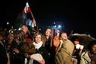 ROMA. FEDELI NELL'AREA DEL CIRCO MASSIMO DI ROMA IN OCCASIONE DELLE VEGLIA DI PREGHIERA ALLA VIGILIA DELLA BEATIFICAZIONE DI PAPA GIOVANNI PAOLO II;