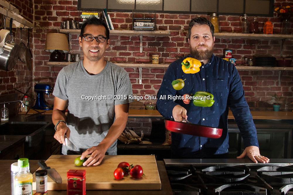 Joe Perez, left,  (co-founder, Tastemade) and Jay Holzer (head of production, Tastemade). (Photo by Ringo Chiu/PHOTOFORMULA.com)