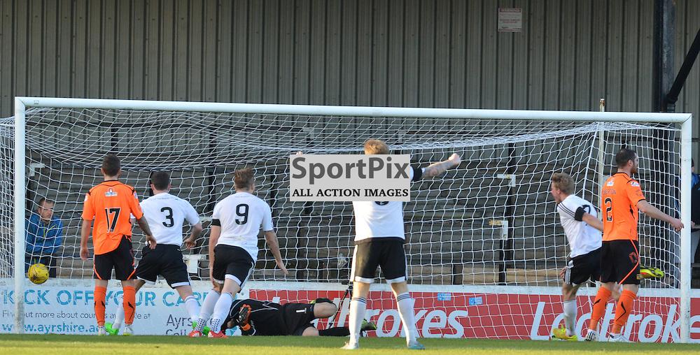 Ayr United score to go 2-1 up against Stranraer......(c) BILLY WHITE | SportPix.org.uk