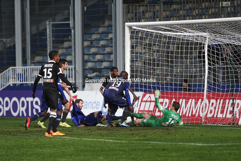 Goal Benjamin MOKULU - 16.12.2014 - Bastia / Caen - Coupe de la   Ligue -<br />Photo : Michel Maestracci / Icon Sport