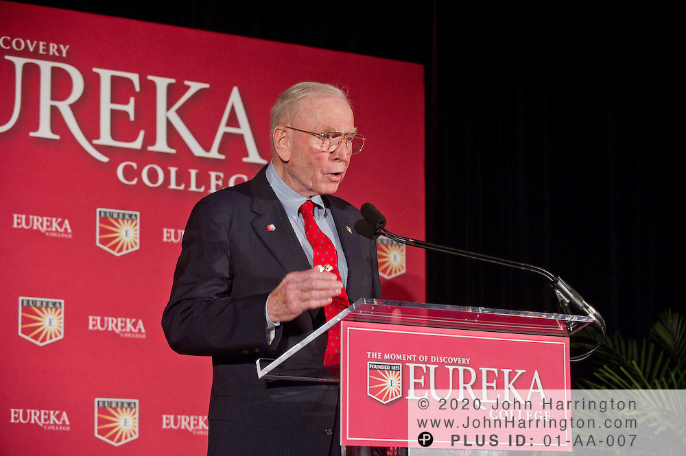Retired General P.X. Kelley of the Marine Corps is named as an honorary Ronald Reagan Fellow at the Centennial Celebration of Reagan's birthday held by his alma mater, Eureka College at a dinner event at the Reagan International Building in Washington, D.C. on November 9th, 2010.