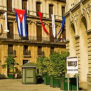 Picturesque Plaza de St. Francis in Old Havana, Cuba.
