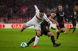 December 8, 2017 - Stuttgart, Germany - Stuttgarts Anastasios Donis in a duel with Leverkusens Dominik Kohr during the Bundesliga match between VfB Stuttgart and Bayer 04 Leverkusen at Mercedes-Benz Arena on December 8, 2017 in Stuttgart, Germany. (Credit Image: © Bartek Langer/NurPhoto via ZUMA Press)