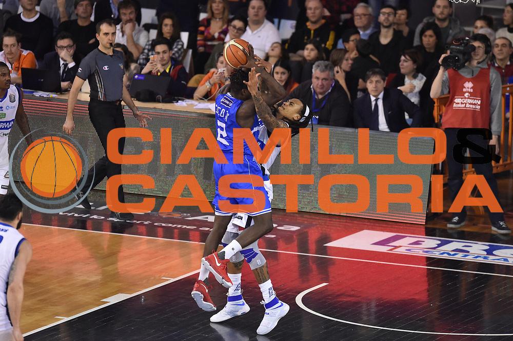 Scott Durand<br /> Germani Basket Brescia vs Enel Brindisi<br /> Lega Basket Serie A 2016/2017<br /> Brescia 11032017<br /> Foto Ciamillo-Castoria/G. Ciamillo