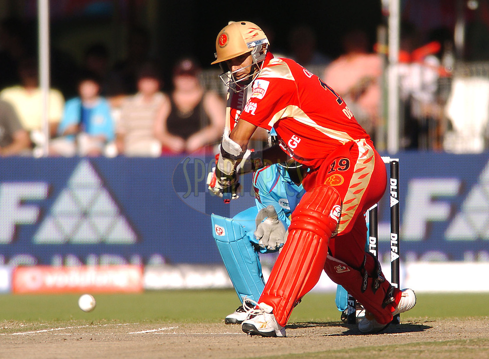 PORT ELIZABETH, SOUTH AFRICA - 10 May 2009.  Dravid during the  IPL Season 2 match between the Mumbai Indians and the Royal Challengers Bangalore held at St Georges Park in Port Elizabeth , South Africa...