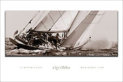 TO BUY: Click Add to Cart. 12 Meter Class Weatherly Custom Poster. Built in 1958, Weatherly won the America's Cup in 1962.  NOTE: The copyright watermark only appears online and is NOT printed.