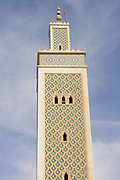 The minarett of the moroccon mosque of Noukchott, Western Africa, Mauretania, Africa