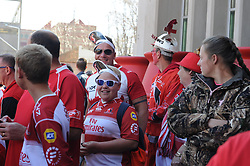 28-07-18 Emirates Airline Park, Johannesburg. Super Rugby semi-final Emirates Lions vs NSW Waratahs. Lions fans wait for their team to arrive before the start of the semi-final. Picture: Karen Sandison/African News Agency (ANA)