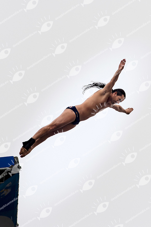 DUQUE Orlando  COL<br /> Men s' Qualification<br /> FINA High Diving World Cup 2014<br /> Kazan Tatartsan Russsia RUS Aug. 8 to 10 2014<br /> Kazanka River  Day01 - Aug.8 <br /> Photo G. Scala/Deepbluemedia