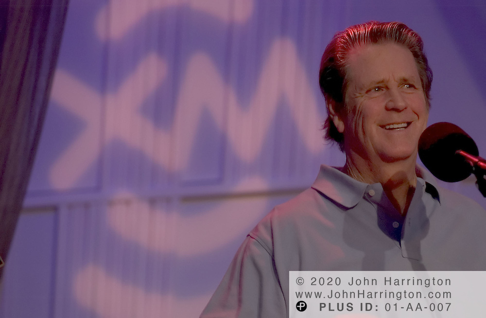 Brian Wilson, best known as a founding member of and the main producer, composer, and arranger for The Beach Boys, performs at XM for an Artist Confidential on Saturday October 9, 2004.