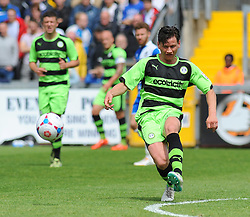 Forest Green Rovers's James Jennings clears the ball- Photo mandatory by-line: Nizaam Jones /JMP - Mobile: 07966 386802 - 03/05/2015 - SPORT - Football - Bristol - Memorial Stadium - Bristol Rovers v Forest Green Rovers - Vanarama Football Conference.