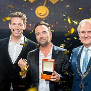 NLD/Hilversum/20180125 - Gouden RadioRing Gala 2017, Jan Willem Roodbeen, Gerard Ekdom en Pieter Broertjes