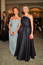 Left to right, ANNA SERGEEVA and LYUBA GALKINA at the Gift of Life Old Russian New Year's Eve charity gala held at The Savoy Hotel, London on 13th January 2016.
