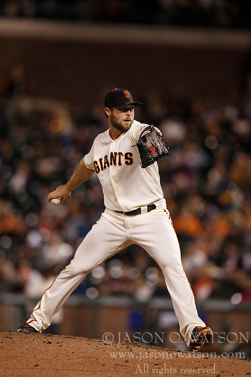 SAN FRANCISCO, CA - APRIL 18: Hunter Strickland #60 of the San Francisco Giants pitches against the Arizona Diamondbacks during the eighth inning at AT&T Park on April 18, 2016 in San Francisco, California. The Arizona Diamondbacks defeated the San Francisco Giants 9-7 in 11 innings.  (Photo by Jason O. Watson/Getty Images) *** Local Caption *** Hunter Strickland