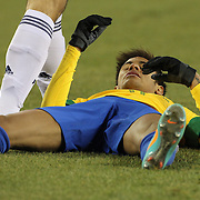 Neymar, Brazil, in action during the Brazil V Colombia International friendly football match at MetLife Stadium, New Jersey. USA. 14th November 2012. Photo Tim Clayton