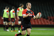 Gethin Jenkins in action. Wales rugby team training at the Millennium stadium,  Cardiff in South Wales on Thursday 15th November 2012.  pic by Andrew Orchard, Andrew Orchard sports photography,