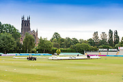 before the Bob Willis Trophy match between Lancashire County Cricket Club and Leicestershire County Cricket Club at Blackfinch New Road, Worcester, United Kingdom on 4 August 2020.