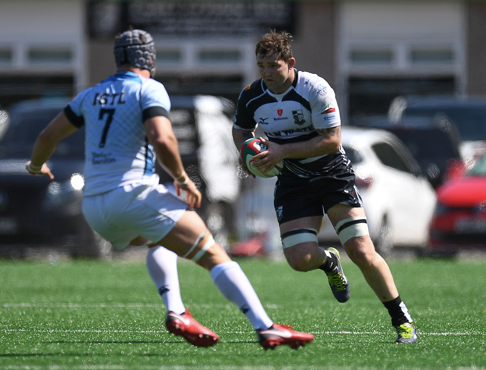 Pontypridd's Rhys Shellard<br /> <br /> Pontypridd RFC v Cardiff RFC<br /> <br /> Photographer Mike Jones / Replay Images<br /> Sardis Road, Pontypridd.<br /> Wales - 5th May 2018.<br /> <br /> Pontypridd RFC v Cardiff RFC<br /> Principality Premiership<br /> <br /> World Copyright © Replay Images . All rights reserved. info@replayimages.co.uk - http://replayimages.co.uk