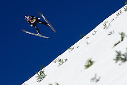March 23, 2019 - Planica, Slovenia - Sandro Hauswirth of Switzerland in action during the team competition at Planica FIS Ski Jumping World Cup finals  on March 23, 2019 in Planica, Slovenia. (Credit Image: © Rok Rakun/Pacific Press via ZUMA Wire)