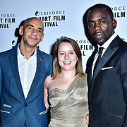 Minnie Ayers, Fraser Ayres and Jimmy Akingbola attend TriForce Short Festival, on 30 November 2019, at BFI Southbank, London, UK.