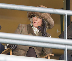 ASCOT- UK - 29-MAR-2015: The Prince of Wales, Patron, The Prince's Countryside Fund, and The Duchess of Cornwall, will meet race-goers and supporters of the Fund and will watch the Waitrose Novices' Handicap Steeple Chase, Ascot Racecourse,<br /> The Queens horse racing Special Agent won the first race running agains Camilla's horse Ravenous. Camilla collected the prize on her behalf.<br /> Photograph by Ian Jones
