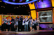 Nick Lachey, the Cincinnati Clash Choir and Maria Menounos onstage during the NBC 'Clash Of The Choirs' full show rehearsal at Steiner Studios in Brooklyn, New York City, USA on December 16, 2007.