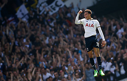 April 8, 2017 - London, England, United Kingdom - Tottenham's DELE ALLI celebrates scoring their first goal against Watford during Premier League action at White Hart Lane. (Credit Image: © Paul Childs/Action Images via ZUMA Press)
